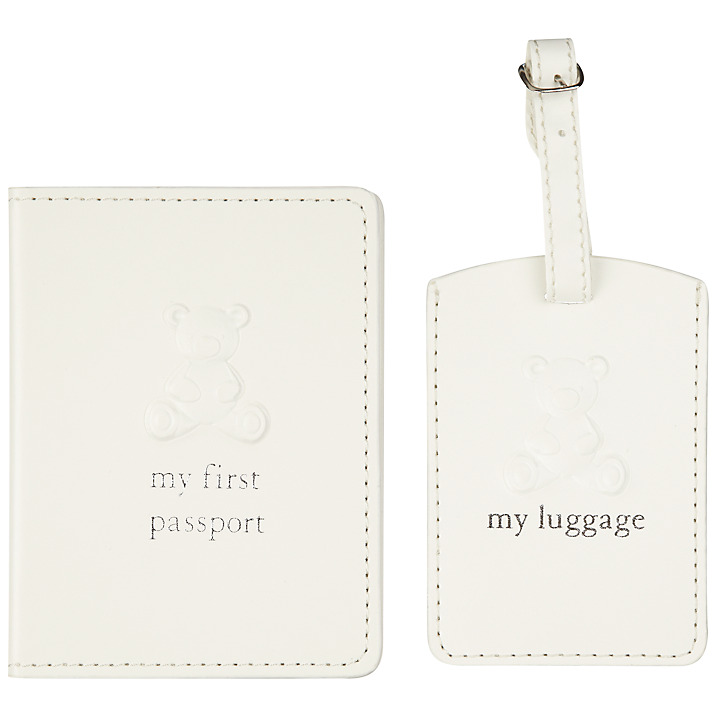 Baby's First Passport and Luggage Tag Set