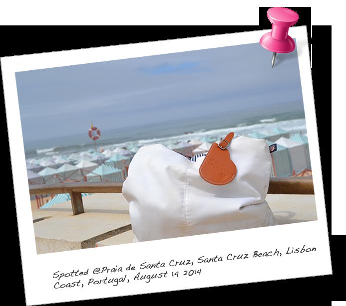 Our BabyMoon KeepsakeTAG spotted@Praia Santa Cruz, Portugal
