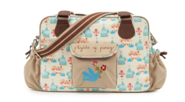 The Flights of Fancy Birdcage Changing Bag Pink Lining