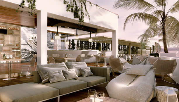 Ibiza Babymoon at 7Pines Resort Ibiza - Pershing Yacht Terrace