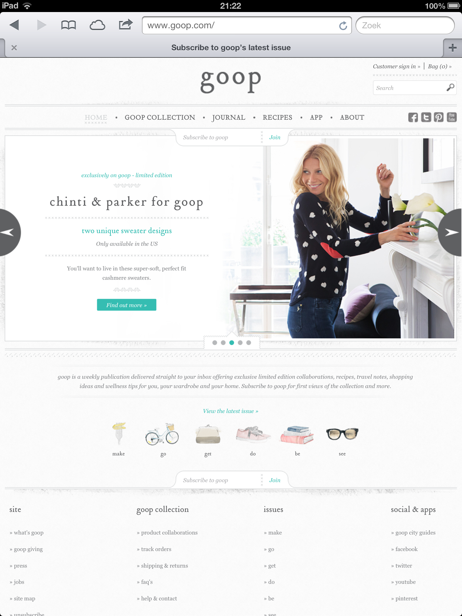 Something for mommy-to-be : Gwyneth Paltrow's Goop.com