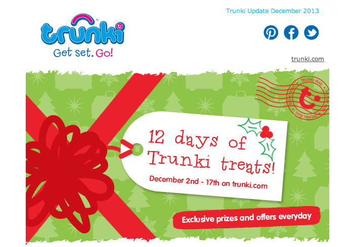 Trunki 12 Days of Christmas starts today !