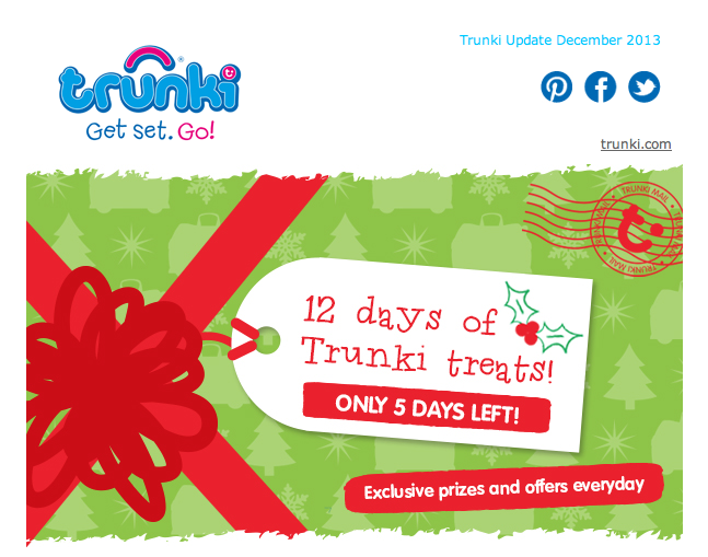 A Sneak Peak at Trunki's 9 to 12 Days of Christmas