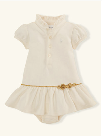 Cotton Polo Dress - Layette Girl - newborn - 9m