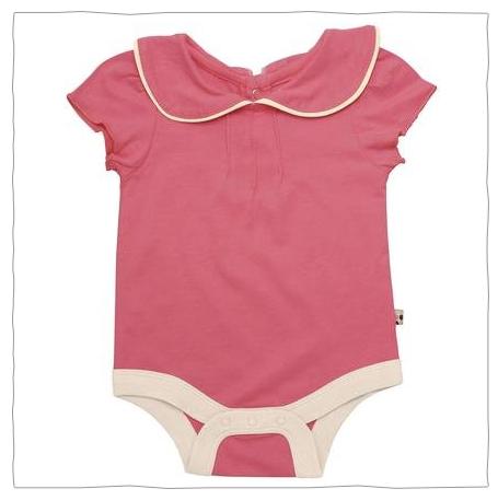 BABYSOY PUFF-SLEEVE BODYSUIT (BABY) - PINK LEMONADE-0-3 MONTHS - Now $15