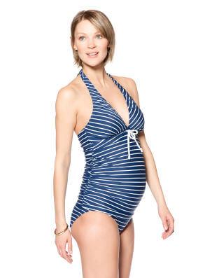 Halter Maternity Tankini Swimwear at A Pea in the Pod