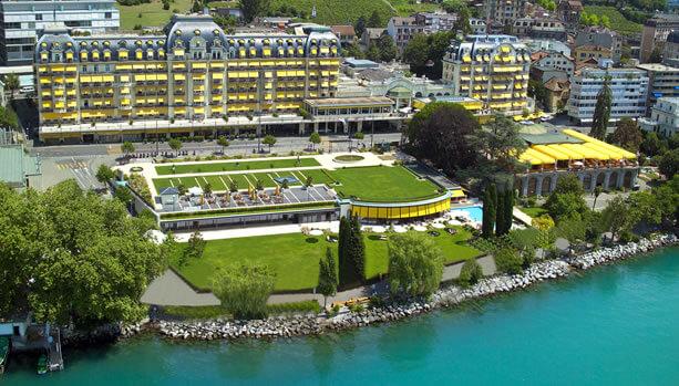 Lake Geneva Babymoon - Fairmont Le Montreux Palace - exterior