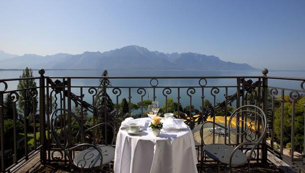 Lake Geneva Babymoon at Fairmont Le Montreux Palace